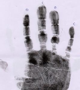 The long Ring finger of a singer song writer